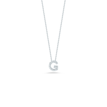 18Kt Gold Love Letter G Pendant With Diamonds