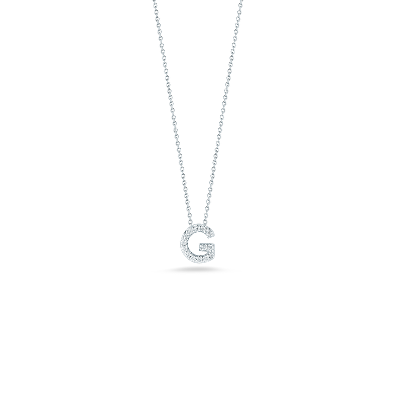 Roberto Coin 18Kt Gold Love Letter G Pendant With Diamonds