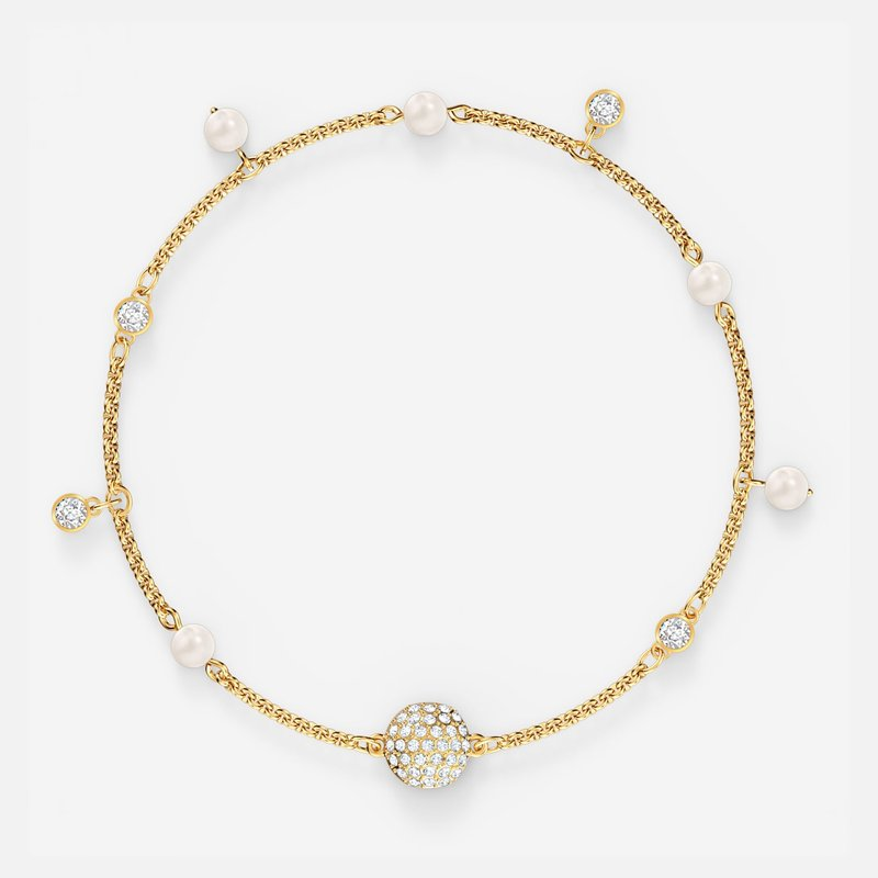 Swarovski Swarovski Remix Collection Delicate Pearl Strand, White, Gold-tone plated