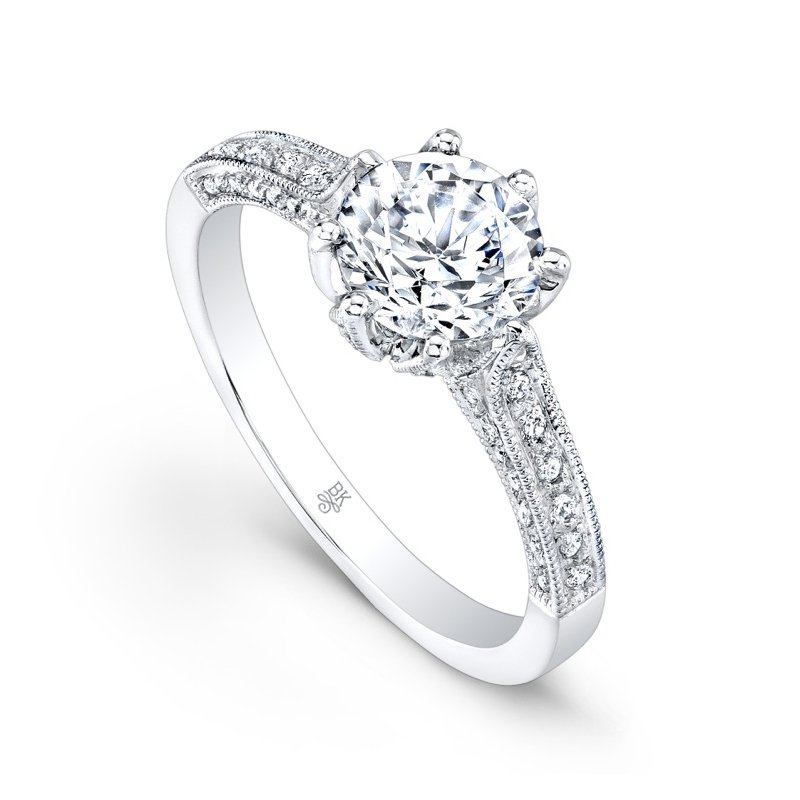 Beverley K Eight Prong Engagement Ring
