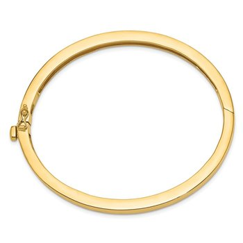 14k 5.3mm Polished Solid Hinged Bangle Bracelet