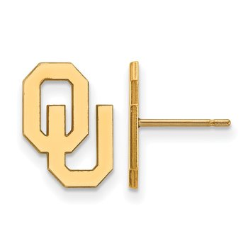 Gold-Plated Sterling Silver University of Oklahoma NCAA Earrings