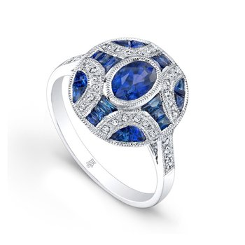 Oval Sapphire Fashion Ring