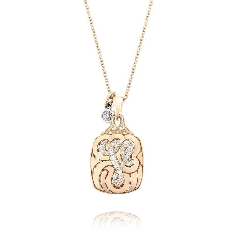 Tacori Petite Monogram Diamond Initial Pendant in Rose Gold | SN223_P