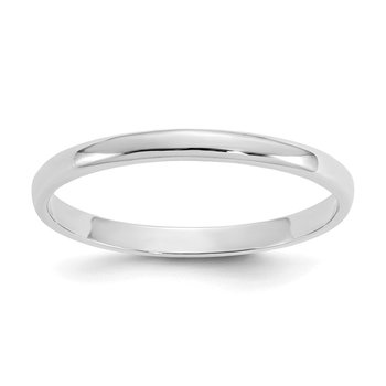 14K White Gold Madi K Polished Ring