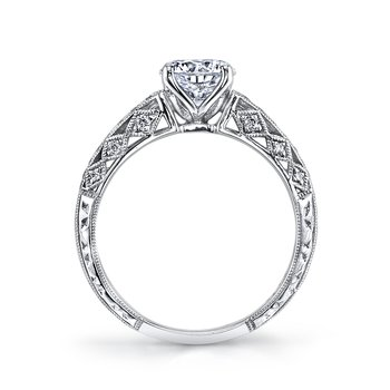 MARS 26031 Diamond Engagement Ring 0.19 Ctw.