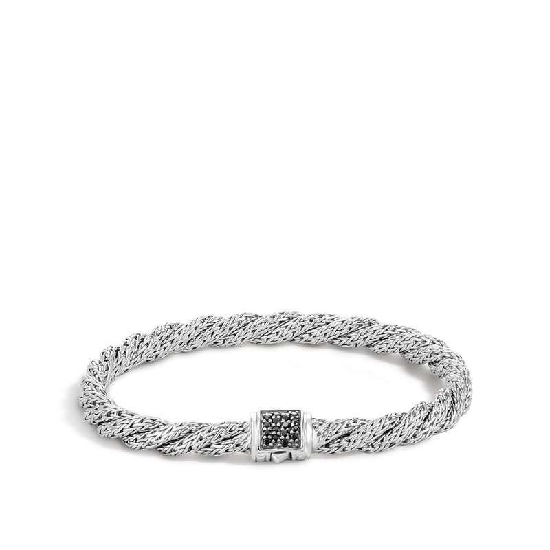 John Hardy Twisted Chain 5.5MM Bracelet in Silver with Gemstone