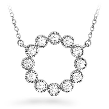 0.38 ctw. Liliana Milgrain Diamond Circle Pendant