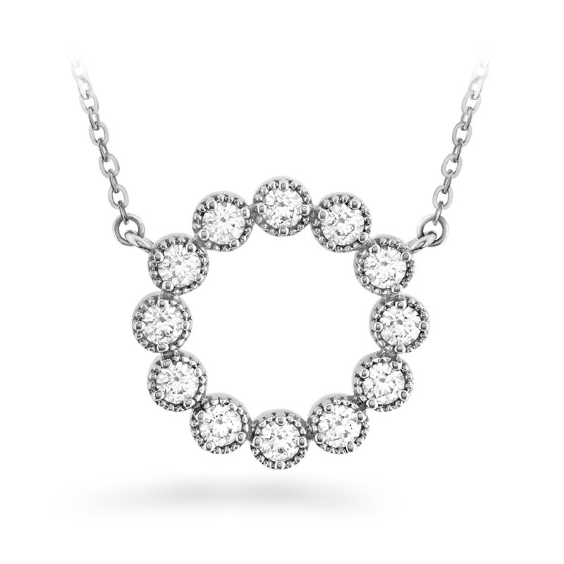 Hearts on Fire 0.38 ctw. Liliana Milgrain Diamond Circle Pendant