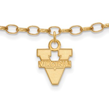 Gold-Plated Sterling Silver University of Virginia NCAA Bracelet