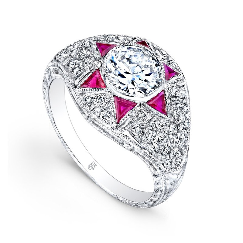 Beverley K Diamond & Rubies Star Bridal Ring