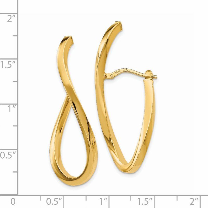 Leslie's Leslie's 14K Polished Twisted Hoop Earrings