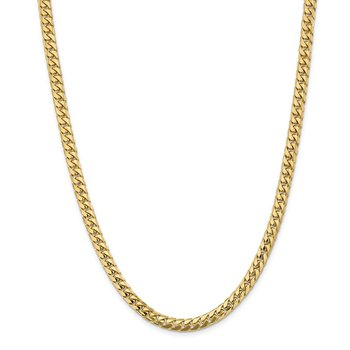 14k 5.5mm Solid Miami Cuban Chain