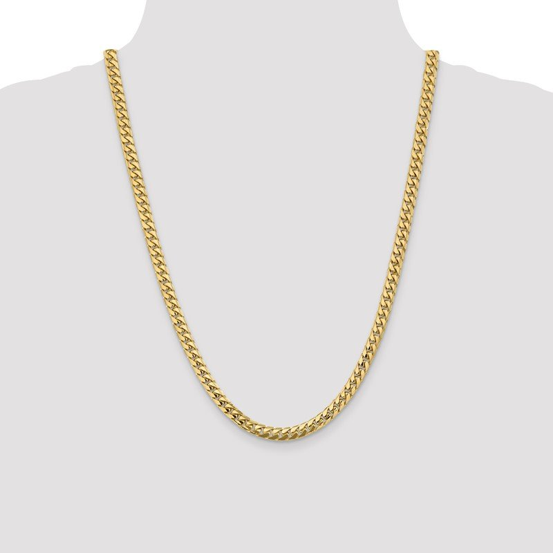 Quality Gold 14k 5.5mm Solid Miami Cuban Chain