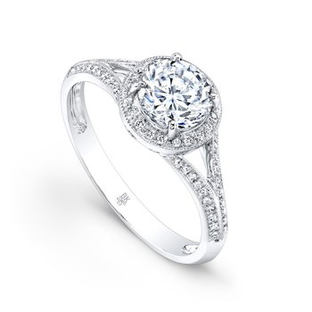 Split Shank Halo Bridal Ring
