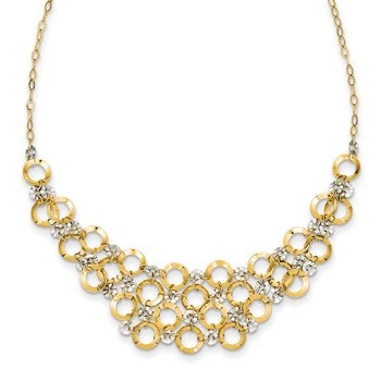 14K Two-Tone Adjustable Circle Necklace