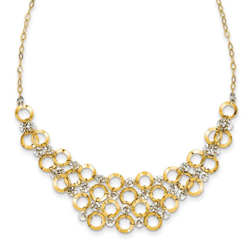 Arizona Diamond Center Collection 14K Two-Tone Adjustable Circle Necklace
