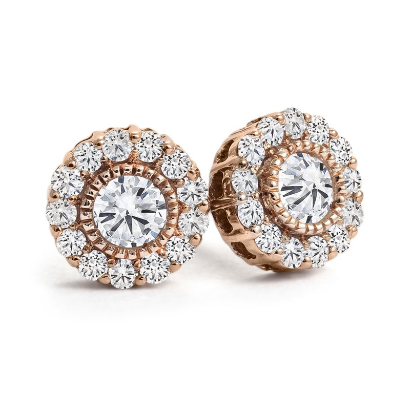 Canadian Rocks Halo Diamond Stud Earrings