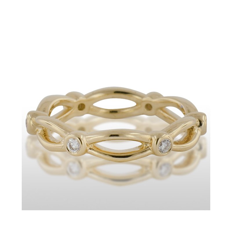 Novell Ladies Yellow Gold Diamond Ring