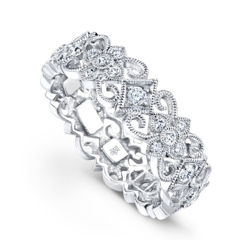 Beverley K Diamond Floral Band