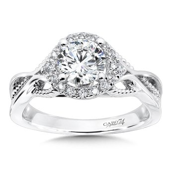 CARO 74 Engagement Ring in 14K White Gold with Platinum Head (1ct. tw.)