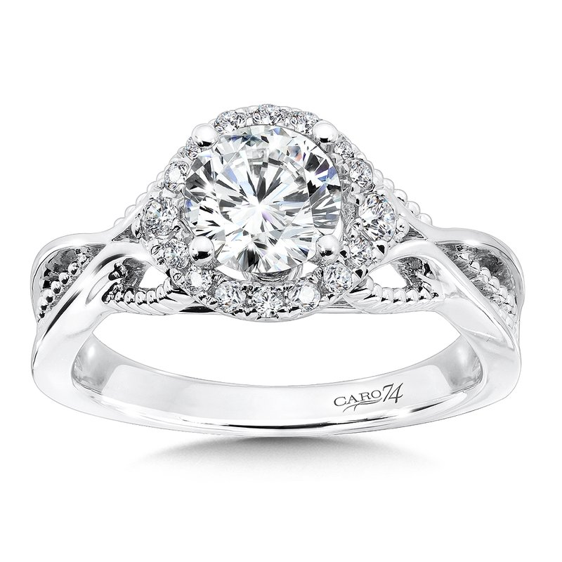 Caro74 CARO 74 Engagement Ring in 14K White Gold with Platinum Head (1ct. tw.)