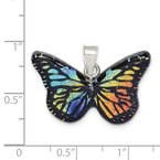 Quality Gold Sterling Silver Iridescent Butterfly Tree Pendant