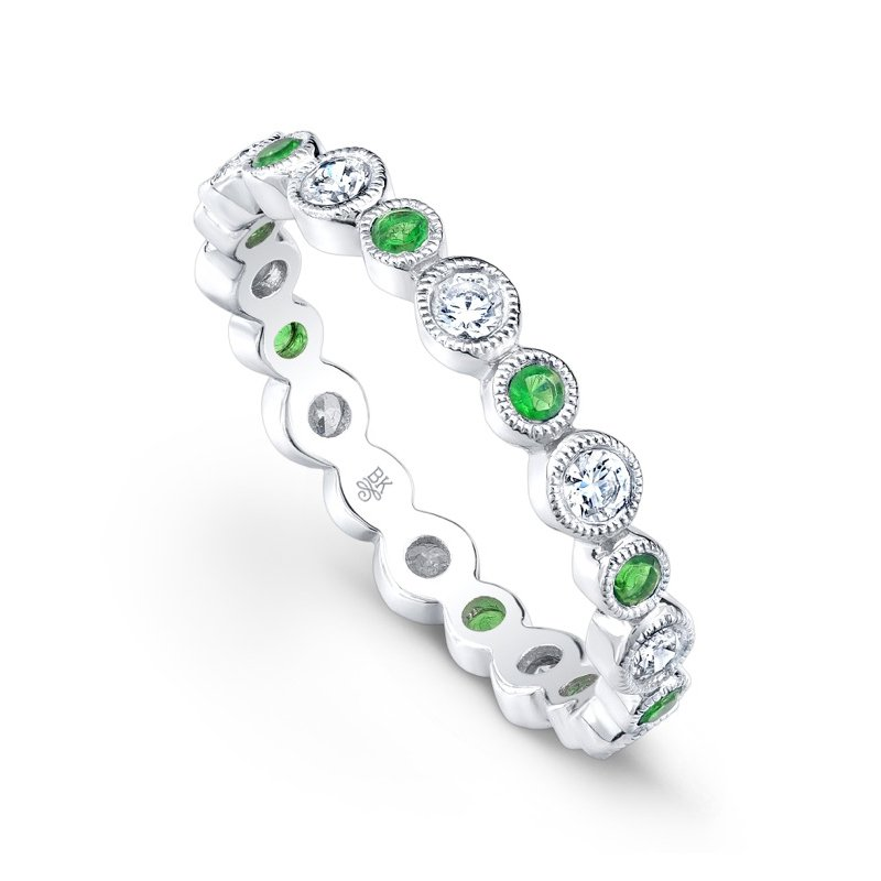 Beverley K Vintage Tsavorite and Diamond Band