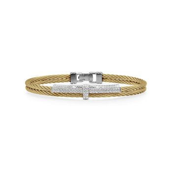 Yellow Cable Petite Opulence Bracelet with 18kt White Gold & Diamonds