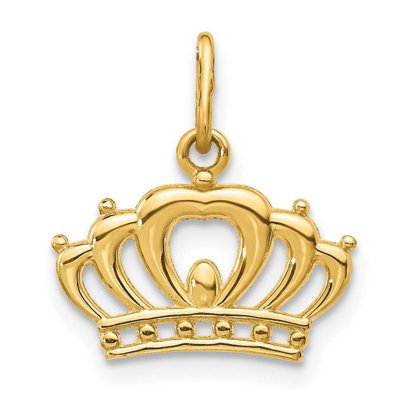 Quality Gold 14k Crown Charm