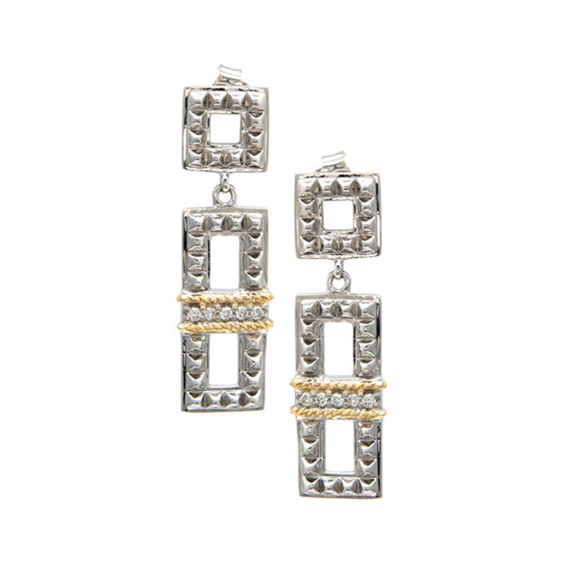 Andrea Candela 18kt and Sterling Silver Diamond Earrings