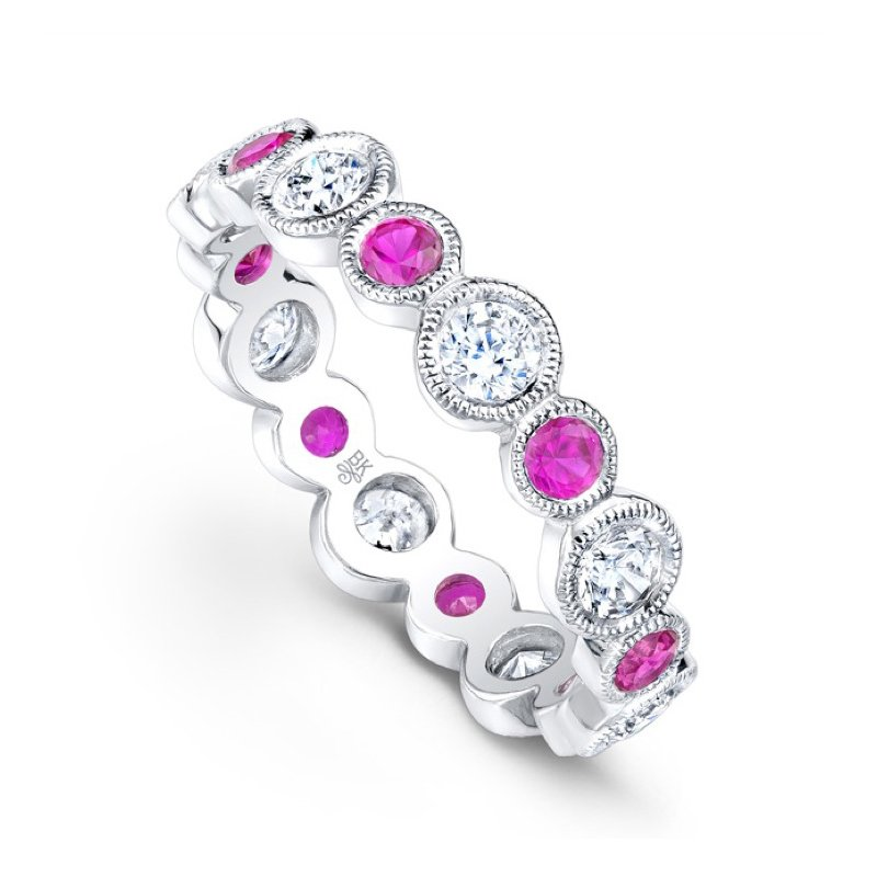 Beverley K Pink Sapphire and Diamond Band