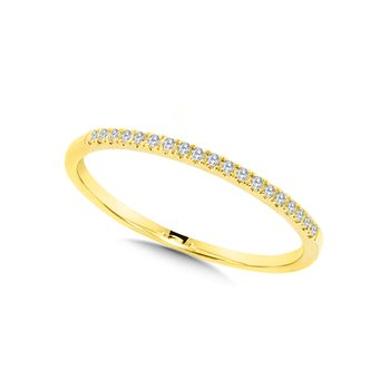 10K Yellow Gold Petite Stackable Diamond Band