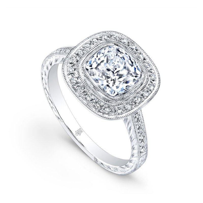 Square Halo Bridal Ring