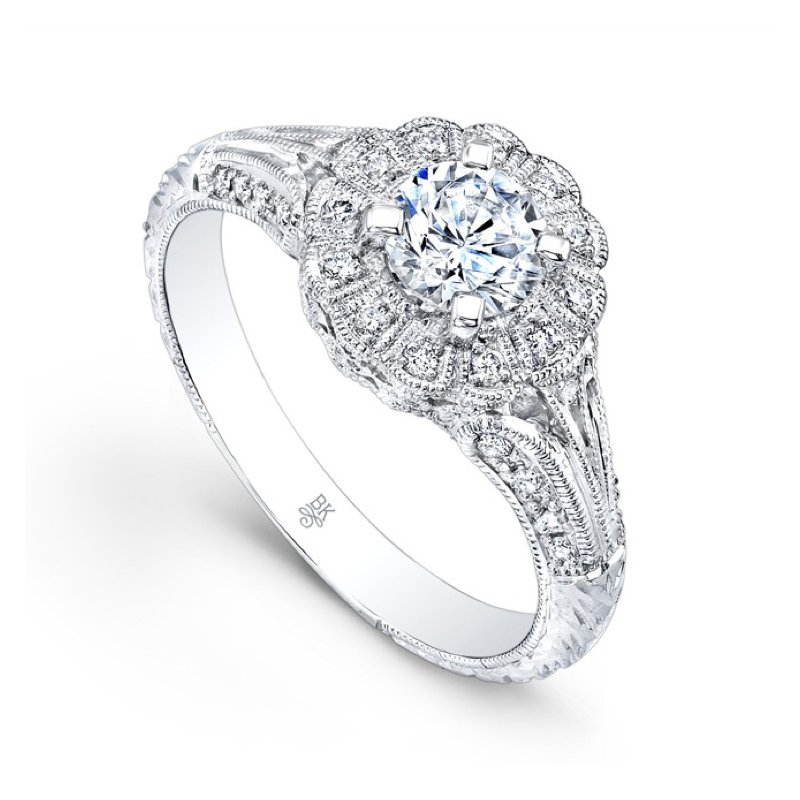 Halo Split Shank Bridal Ring