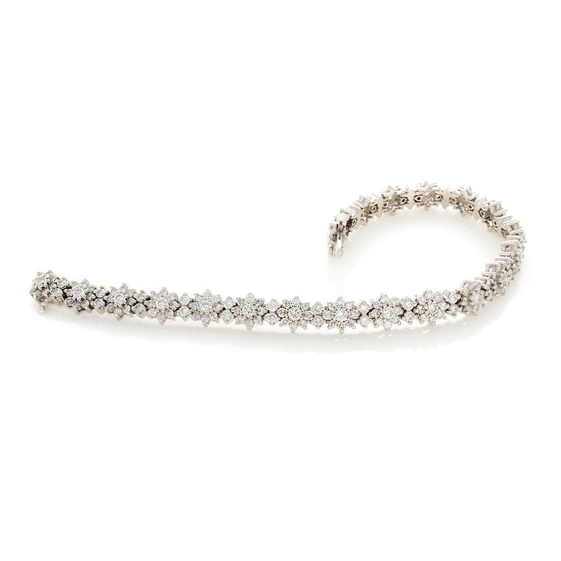William Levine FLOWER DESIGN DIAMOND BRACELET