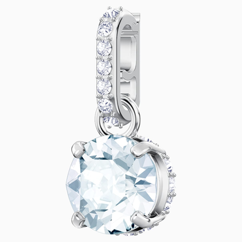 Swarovski Remix Collection Charm, April, White, Rhodium plated
