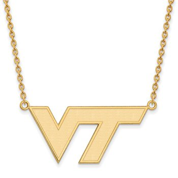 Gold Virginia Tech NCAA Necklace