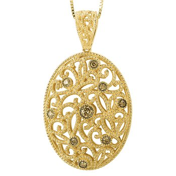 Brown Diamond Pendant