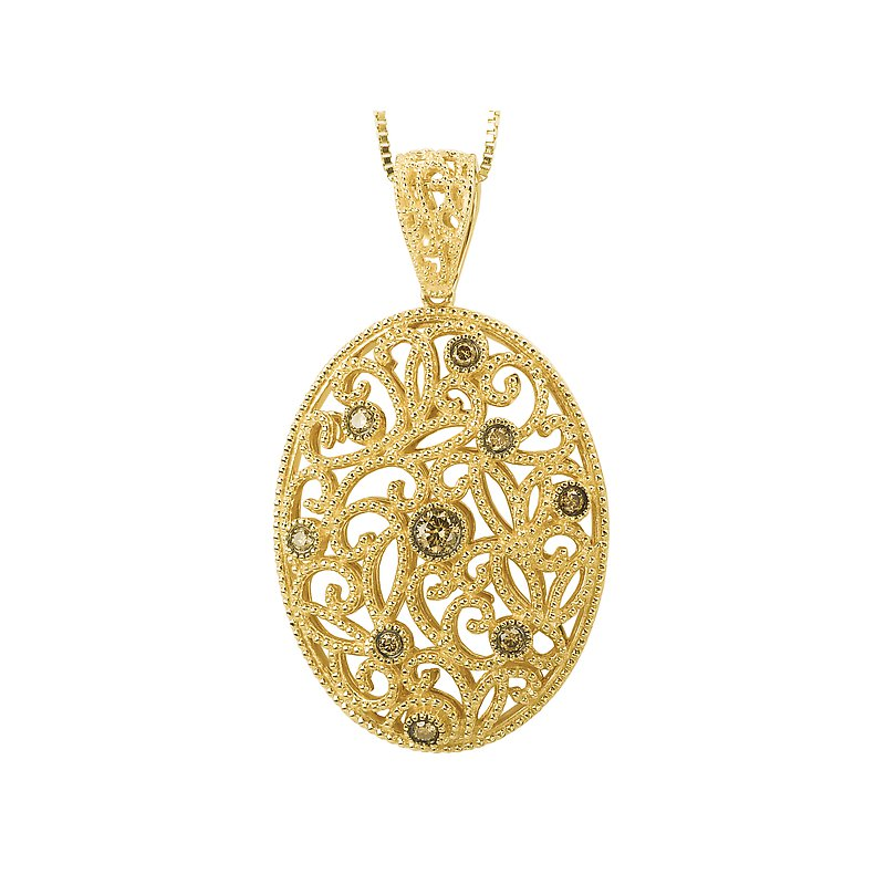 Tesoro Brown Diamond Pendant