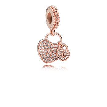 Love Locks, Pandora Rose™ Clear Cz