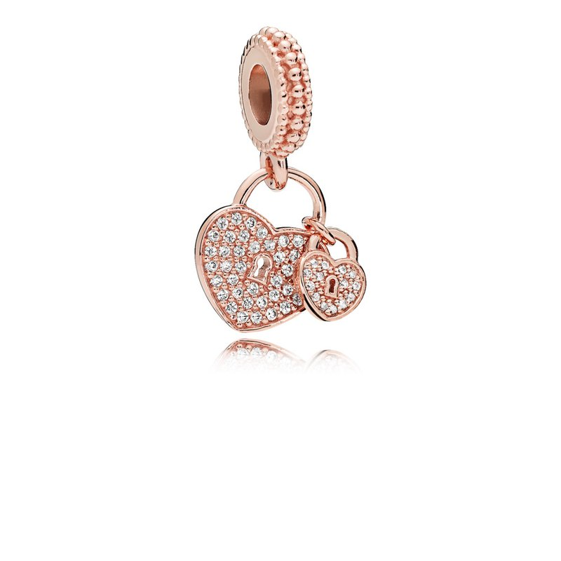 PANDORA Love Locks, Pandora Rose™ Clear Cz
