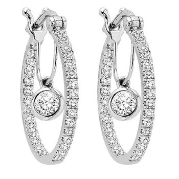 14K Diamond Earring 1 1/2 ctw