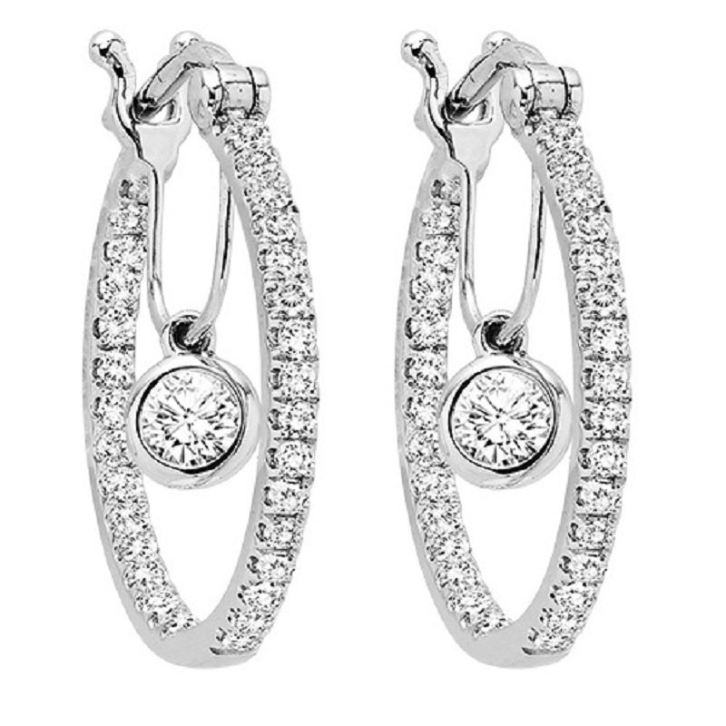 Gemsone 14K Diamond Earring 1 1/2 ctw