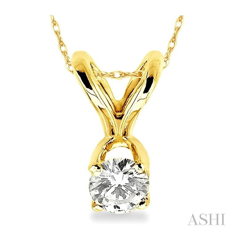 Crocker's Collection solitaire diamond pendant