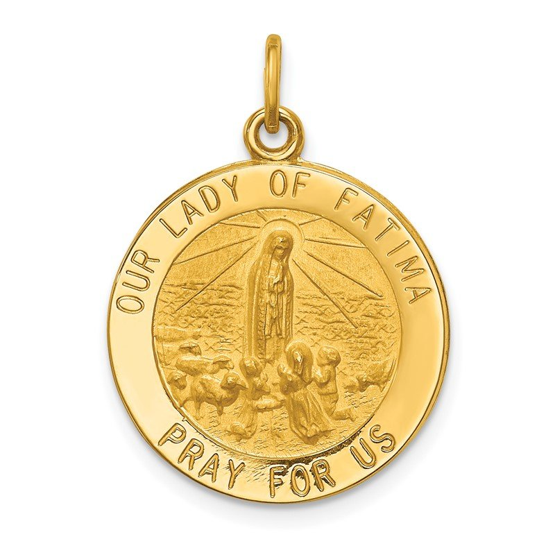 Quality Gold 14k Our Lady of Fatima Medal Pendant