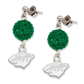 Sterling Silver Minnesota Wild NHL Earrings