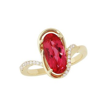 Padparadscha Ring-CR8263YPD