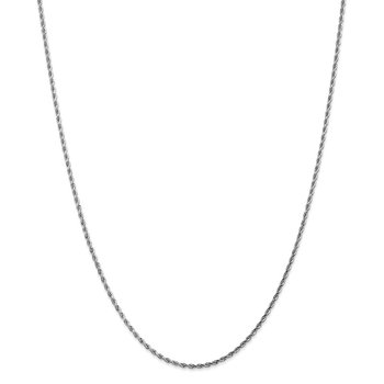 Leslie's 14K White Gold 1.75mm Diamond-Cut Rope Chain