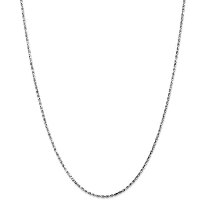 Leslie's Leslie's 14K White Gold 1.75mm Diamond-Cut Rope Chain